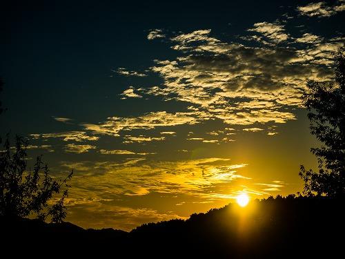 静岡県でのある日の夕日