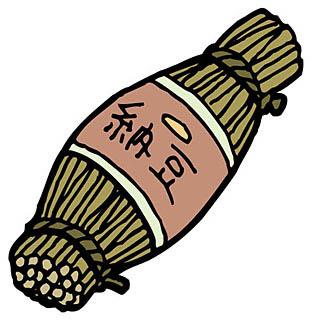 昔ながらの藁入り納豆