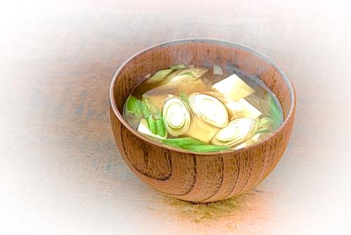 ネギとおろし生姜の味噌汁