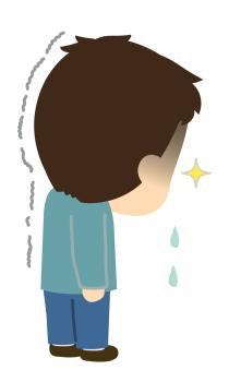 寂しさや悲しさをこらえる子ども