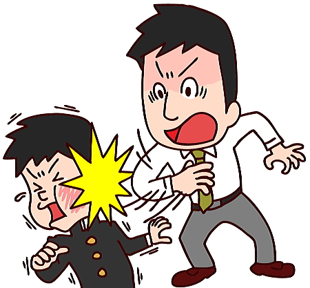 父親による体罰